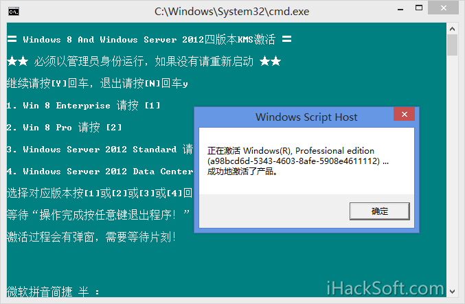 Windows 8 激活