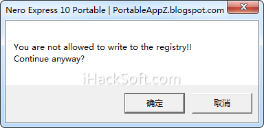 You are not allowed to write to the registry